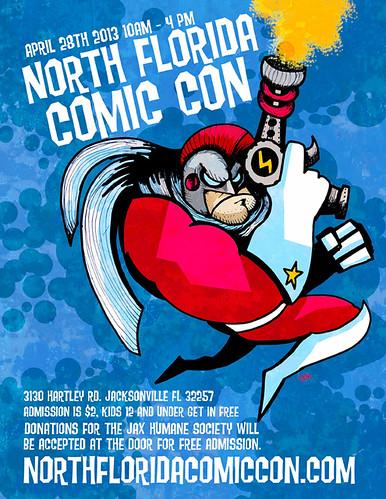 North Florida Comic Con poster
