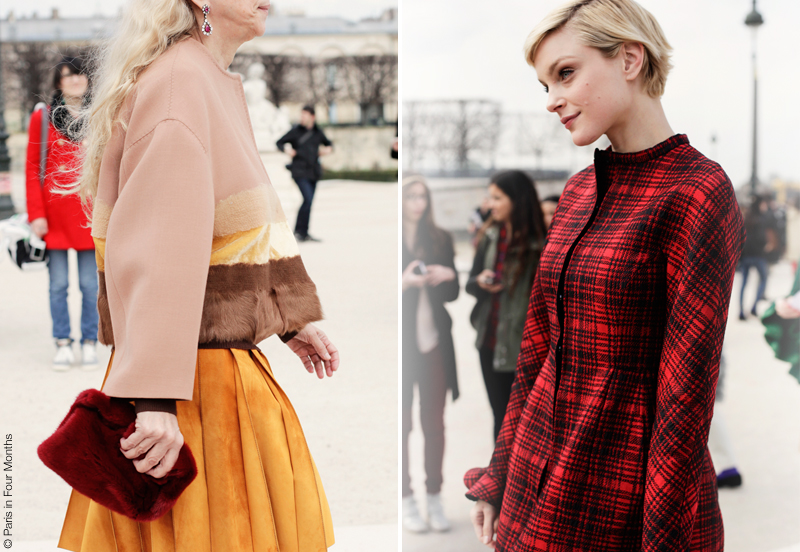 Franca Sozzani and Jessica Stam at Paris Fashion Week FW13 by Carin Olsson (Paris in Four Months)