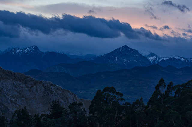Before Sunrise from el Mirador del Fito, Caravia, Asturias