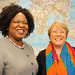 UN Women Executive Director Michelle Bachelet meets Special Raporteur on Trafficking