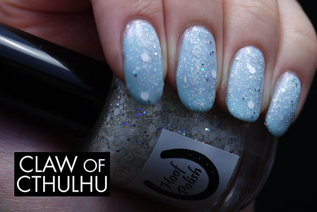 Hoof Polish Just One More Time Swatch (over Sinful Colors Cinderella)