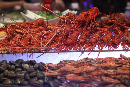 Lobster buffet at diamond hotel s corniche between bites