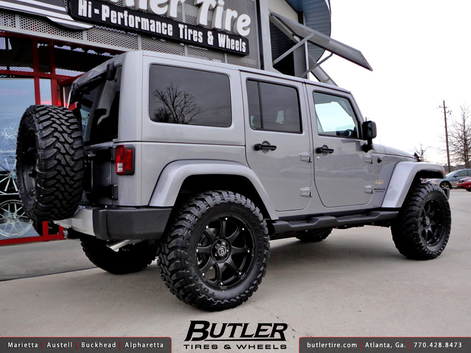 Jeep Wrangler With 20in Black Rhino Glamis Wheels