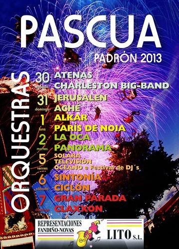 Padrón 2013 - Pascua - cartel orquestras