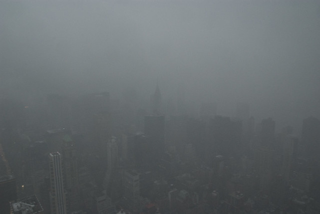zero visibility at empire state building