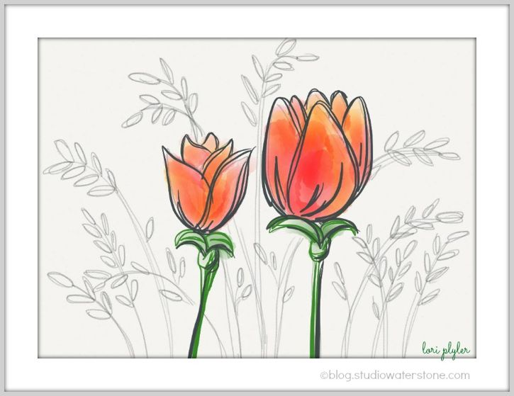 """tulips"" from Studio Waterstone"