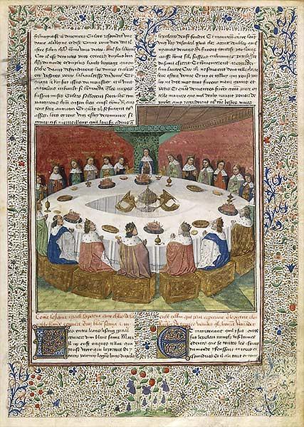 Apparition du graal aux chevaliers de la table ronde - Les chevalier de la table ronde ...
