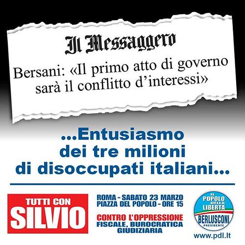 Bersani fa un governo per il conflitto di interesssi??