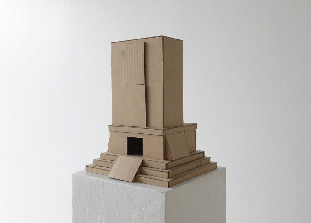 Cardboard model.