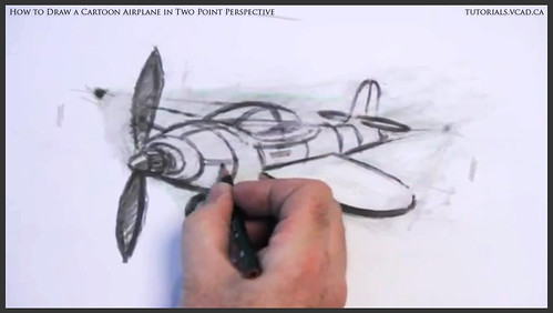 learn how to draw a cartoon airplane in two point perspective 043