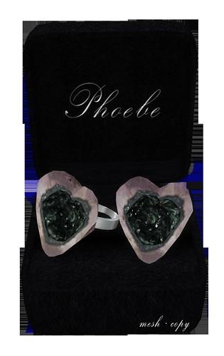 P Mesh Heart Rings ~Apatite~ 1024