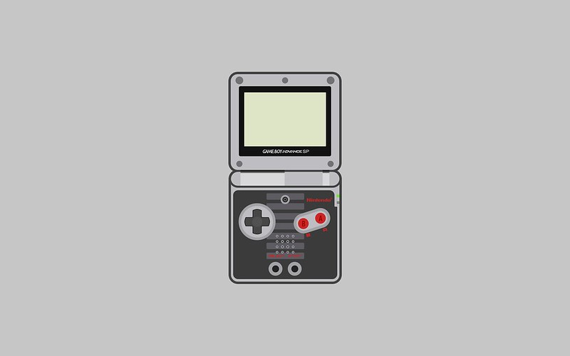 Nintendo Game Boy Advance SP wallpaper - NES special edition