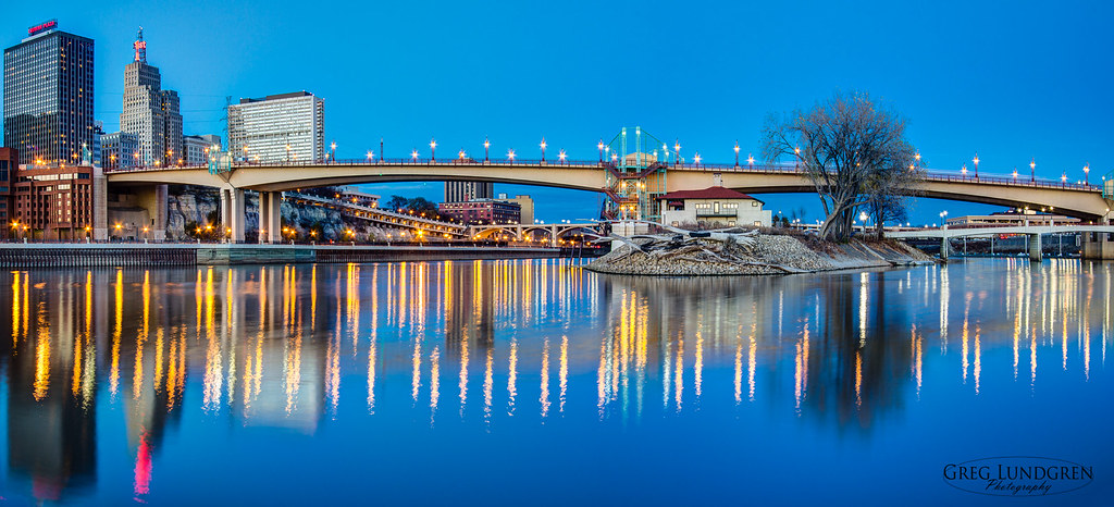 Wabasha Bridge at Dusk - St. Paul