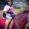 Riding a horse #zoo