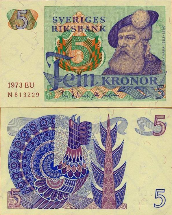 5 Korún Švédsko 1973, Pick 51c