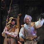 Pictured L-R: Ben Dicke (Sancho Panza) and William Michals (Don Quixote) Photo P. Switzer 2013 -