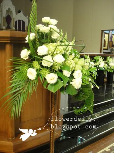 Maundy Thursday Church Flower Decoration 2013