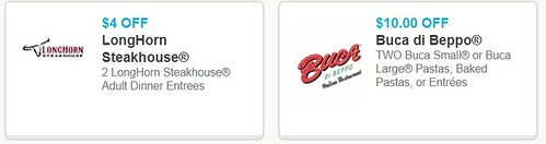 picture regarding Buca Di Beppo Printable Coupons titled $10/2 Low Pasta or Entrees at Buca di Beppo and $4/2