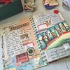 The first inside spread is a little busy, but I'm sort of diggin' it.  #journal #iwantalltheoldpaper #travel #seattle #ephemera #amtrak #vintage
