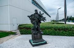 ::sculpture near the main building::