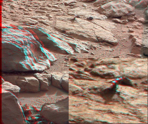 CURIOSITY sol 173 MastCam left and right - Another Martian flower ANAGLYPH