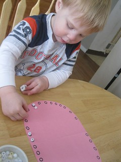 Roll and Cover Dental Game (Photo from The Preschool Experiment)