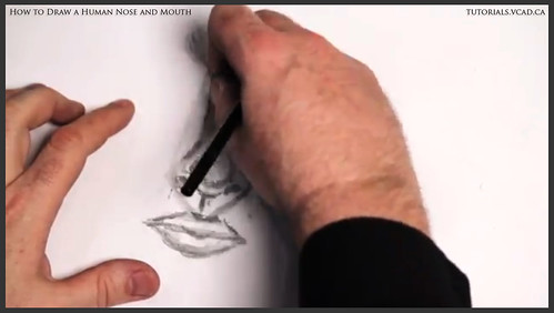 learn how to draw a human nose and mouth 009