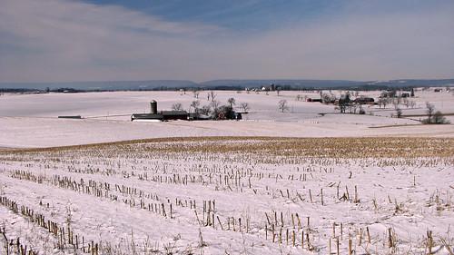 winter snow farm fields february centralpennsylvania