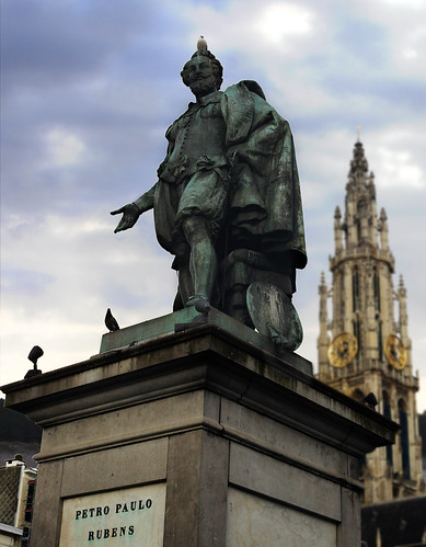 Rubens statue in Antwerp