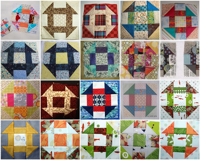 20 Churn Dash Blocks Created for the My Favorite BLock Quilt Along