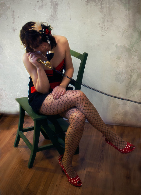 254) As a pin-up model