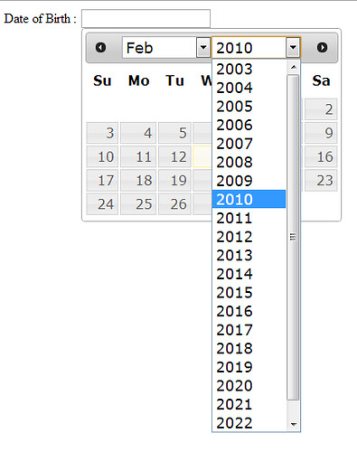 datepicker tutorial