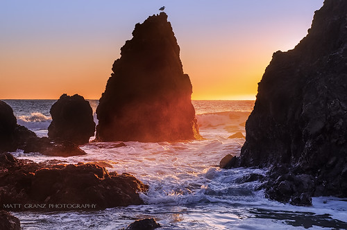 california sunset seascape nature landscape waves shoreline pacificocean marinheadlands seastacks rodeobeach