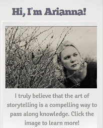The About Arianna Merritt badge on her blog sidebar