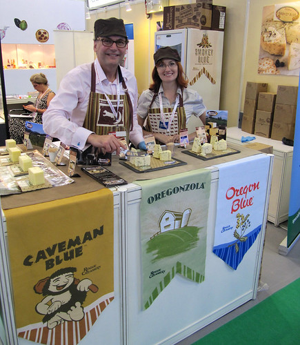 Rogue Creamery representatives display some of their popular cheeses during a 2011 international trade show in Hong Kong. The Oregon company credits the Foreign Agricultural Service's (FAS) Market Access Program (MAP) and industry partners for helping the company expand international sales of its award-winning cheeses. (Courtesy Photo)