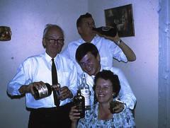 John H, son-in-law Ian Tuckett, son John R, and daughter Joan Tuckett,1966