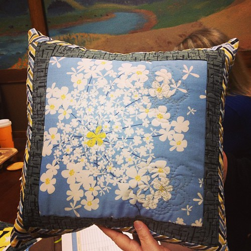 One of @alifealoft #madronaroad challenge pillows from the #sacmqg meeting today love it Janice!!