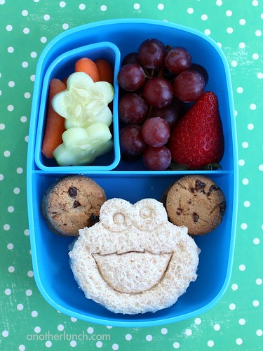 Cookie Monster Preschool Lunch in a Sassy Bento Box