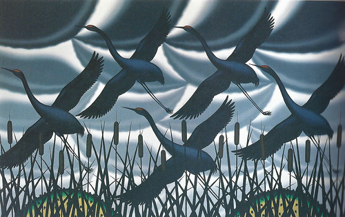 Roger Brown, Memory of Sandhill Cranes, 1981
