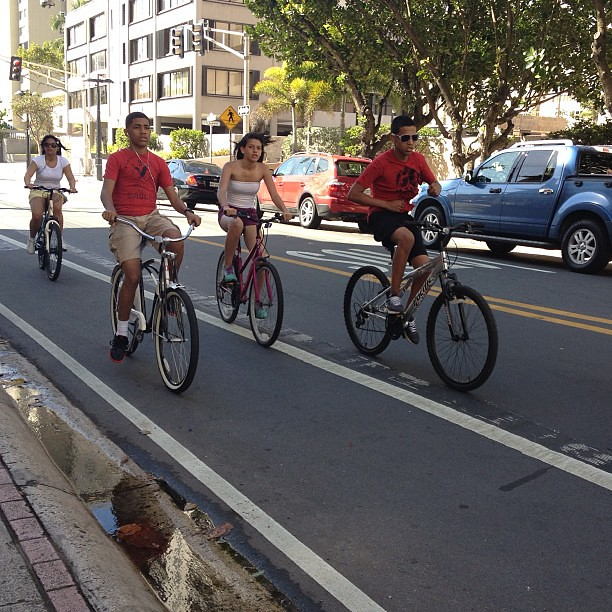 #cyclists in San Juan: fast, no helmets, lots of cruisers and sweet fixies. Love discovering bike cultures in other cities. @untappedcities #bikes #untappedcities #cyclechic
