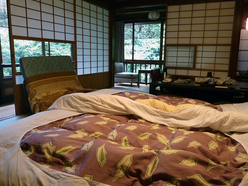 hiragiya ryokan; washing your futon