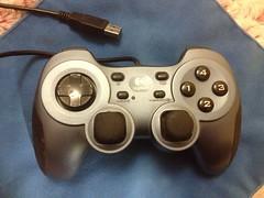 wheel(0.0), steering wheel(0.0), game controller(1.0), electronic device(1.0), joystick(1.0), gadget(1.0),