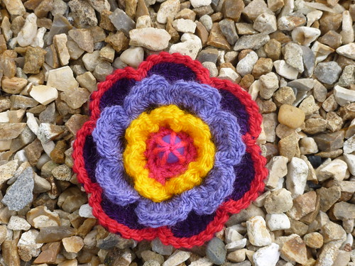 Crochet flower from pattern by Lucy at http://attic24.typepad.com/