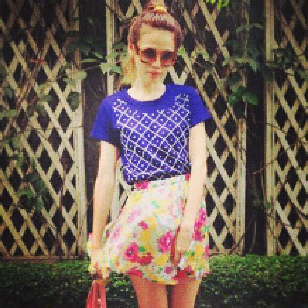 ootd outfit fashiongirls outfits tumblr blue skirt