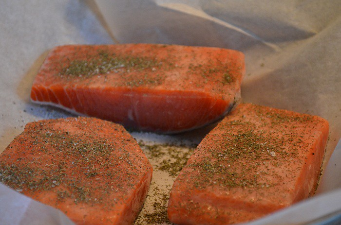 Salt and Dill on the Salmon | My Halal Kitchen