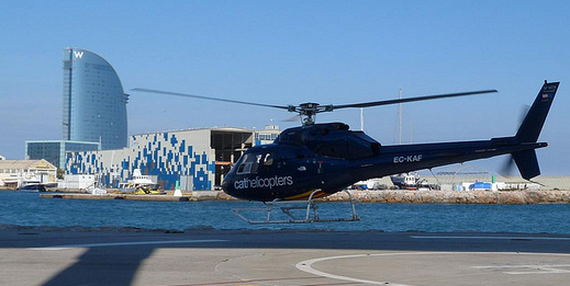 El helicóptero empieza a volar (Barcelona)