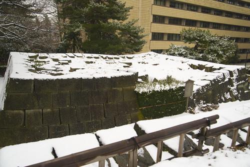 福井地震で崩壊した天守
