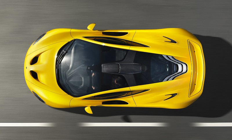 McLaren P1 Yellow Geneva top view