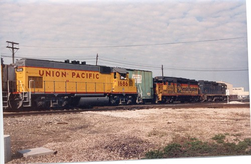 "Leftover 1970's era ""Retro Railroading"" at Hayford Junction.  Chicago Illinois.  May 1987. by Eddie from Chicago"