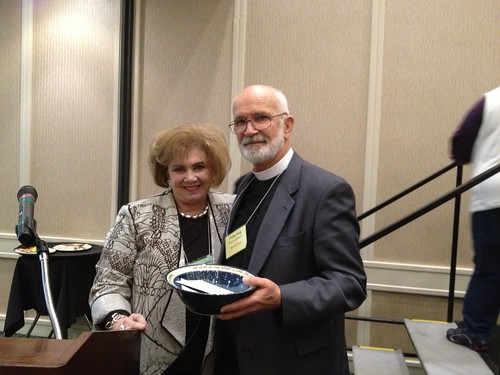 <p>The Rev. Philip Haug was honored for his twelve years of service as chair of the Communications Commission and leading the diocese from print to online communications.</p>